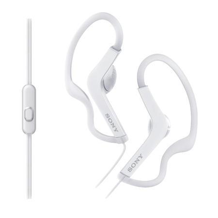 SONY MDR-AS210AP Sportovní sluchátka s klipem + ovladač pro telefon - White