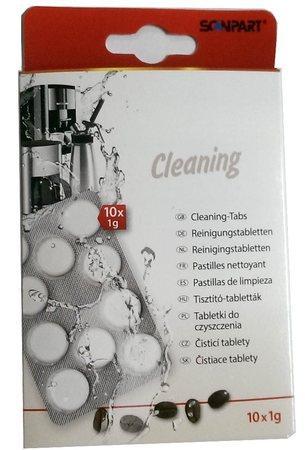 Scanpart čistící tablety pro kávovary, espressa 10 x 1g