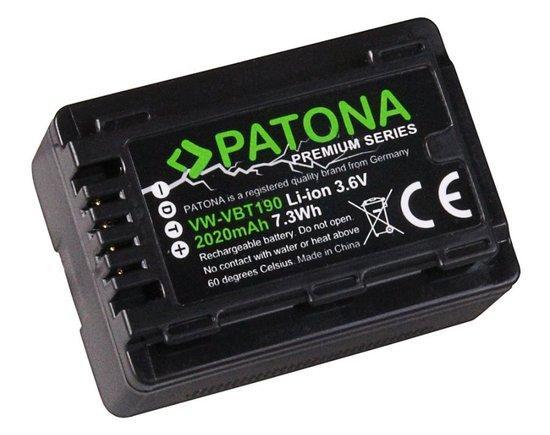 PATONA baterie pro digitální kameru Panasonic VBK180 2020mAh Li-Ion Premium