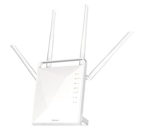 STRONG dvoupásmový router 1200/ Wi-Fi standard 802.11ac/ 1200 Mbit/s/ 2,4GHz a 5GHz/ 4x LAN/ 1x WAN/