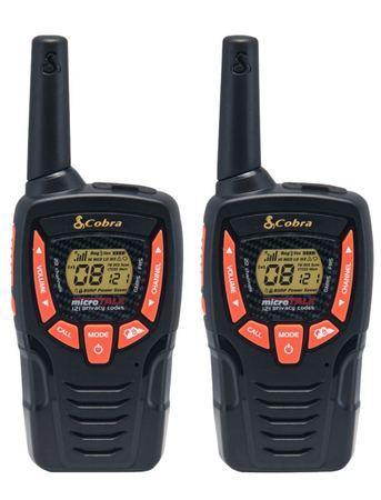 COBRA vysílačky AM645/ profi PMR/ 2ks/ 6x nabíjecí baterie AA/ 8 kanálů/ dosah 8km/ černo-oranžové