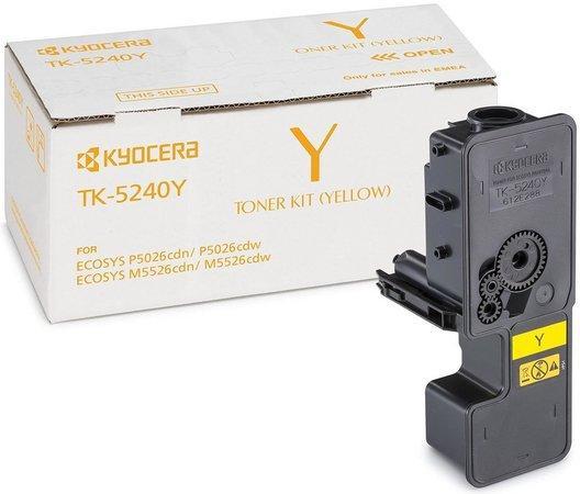 Kyocera toner TK-5240Y/ M5526cdn;cdw, P5026cdn;cdw/ 3 000 stran/ Žlutý