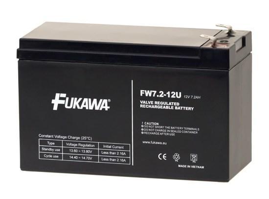 FUKAWA olověná baterie FW 7,2-12 F2U do UPS APC/ AEG/ EATON/ Powerware/ 12V/ 7,2 Ah/ životnost 5 let/ Faston 250, 11509