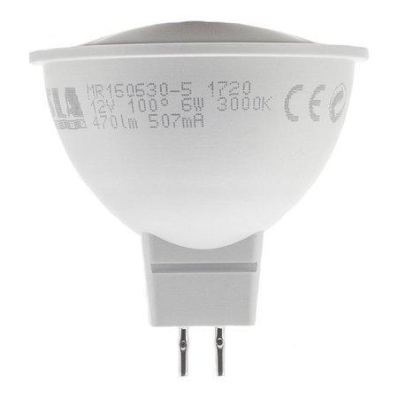 TESLA LED žárovka/ GU5,3/ MR16/ 6W/ 12V/ 470lm/ 3000K/ teplá bílá