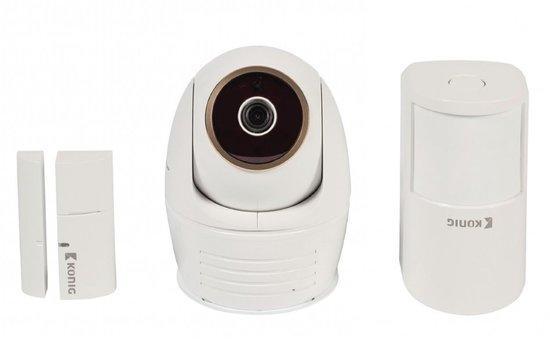 IP kamera König SAS-SETIPC011W + dveřní/okenní senzor + detektor pohybu - bílá, SAS-SETIPC011W