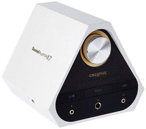CREATIVE Sound Blaster X7, Bíly, digitálně-analogový převodník s USB, zesilovač zvuku s dekodérem Dolby Digital