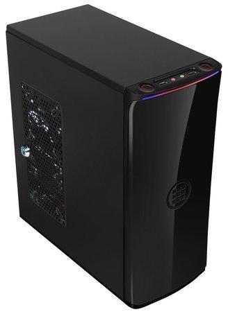 MICRONICS skříň FRONTIER H100/ bez zdroje/ ATX/ 2x USB2.0/ černá