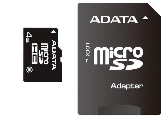 ADATA microSDHC 32GB Class 4 AUSDH32GCL4-RA1