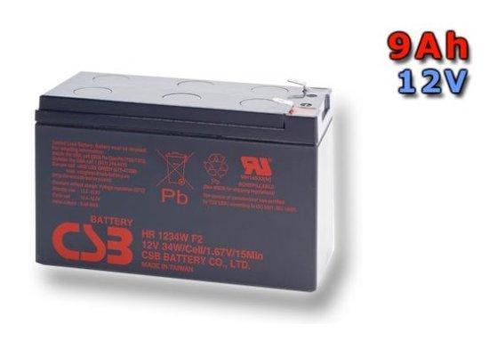 CSB 12V 9Ah olověný akumulátor HighRate F2 (HR1234WF2), PBCS-12V009-F2AH