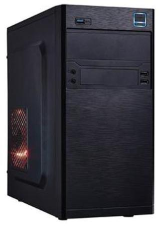 EUROCASE skříň MC X202 black, micro tower, 2xAU, 2x USB 2.0, MCX202