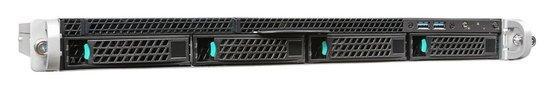 """INTEL Server platforma 1U, 1x LGA1151, 4xDIMM ECC DDR4, 4x HDD 3,5"""" SATA HS (12G), 2x450W, R1304SPOSHORR"""