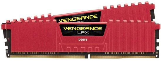 Corsair Vengeance LPX Red DDR4 16GB (2x8GB) 3000MHz CL15 CMK16GX4M2B3000C15R