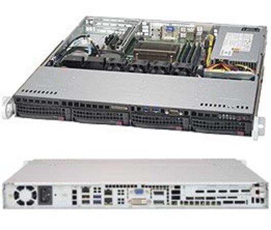 """SUPERMICRO 1U server 1x LGA1151, iQ170 (i7), 4x DDR4, 4x 3.5"""" HS SATA3, 350W, IPMI, SYS-5019S-M2"""
