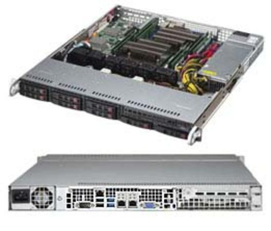 "SUPERMICRO 1U chassis 8x 2,5"" HS SAS3/SATA (2x NVMe), 600W (80PLUS Platinum), CSE-113MFAC2-605CB"