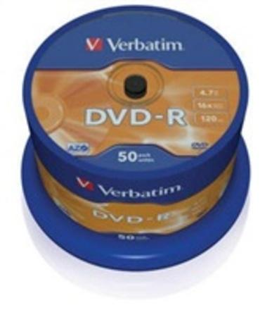 Verbatim DVD-R 4,7GB 16x, AZO, spindle, 50ks (43548), 43548