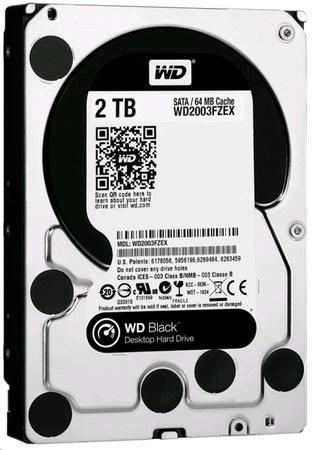 WD BLACK WD2003FZEX 2TB SATAIII/600 64MB cache 7200 ot., WD2003FZEX