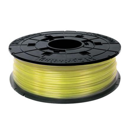 Xyz Junior 600gr Clear Yellow PLA Filament Cartridge (RFPLCXEU03J), RFPLCXEU03J