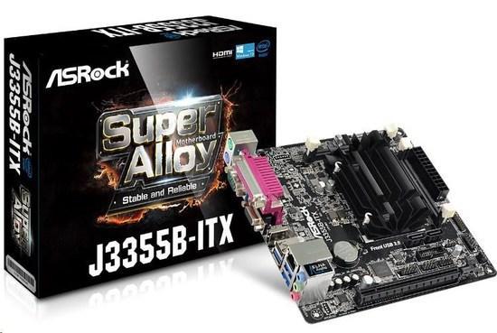 ASRock MB Int.procesor J3355B, 2xDDR3/DDR3L SODIMM , VGA, mini-ITX, J3355B-ITX