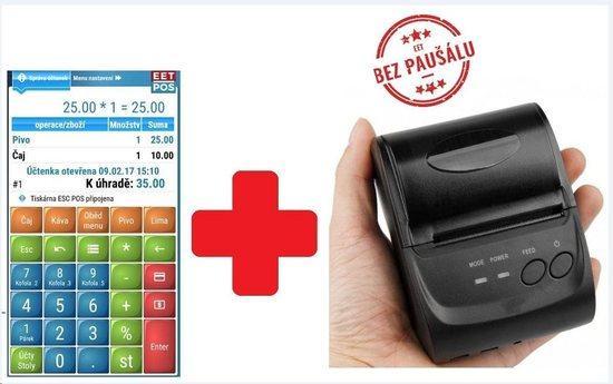 EET-POS plná verze + mobilní tiskárna 5802LD, EET-POS-PRINT