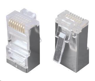 Solarix Konektor RJ45 CAT5E STP 8p8c stíněný neskládaný na drát / 100 ks KRJS45/5SLD, 11578804