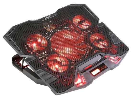 EVOLVEO Ania 5R, chladicí podstavec pro notebook, červené podsvícení, polohovatelný, reg.ot., displa