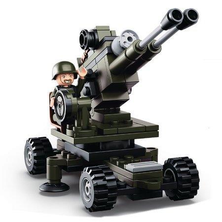 SLUBAN stavebnice Army Dělostřelec, 95 (kompatibilní s LEGO)