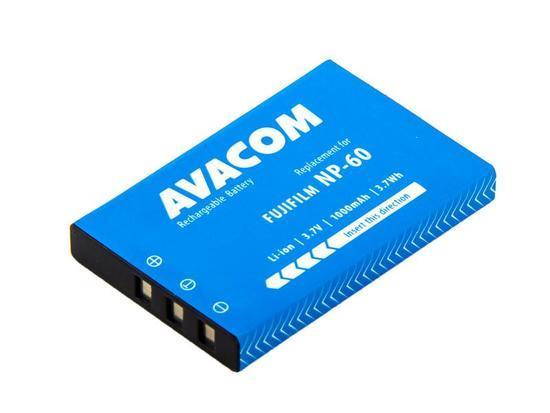 Náhradní baterie AVACOM Fujifilm NP-60, Kodak KLIC-5000, Olympus LI-20B, Samsung SLB-1037, SLB-1137 Li-Ion 3.7V 1000 mAh 3.7Wh
