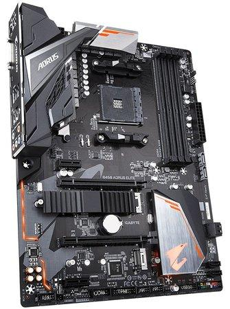 Gigabyte B450 AORUS ELITE 1.0, AM4, 4xDDR4-3200, DVI-D/HDMI, USB-C, B450 AORUS ELITE 1.0