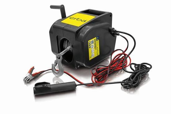 Elektrický ruční naviják 12V s klikou a dálkovým ovládáním