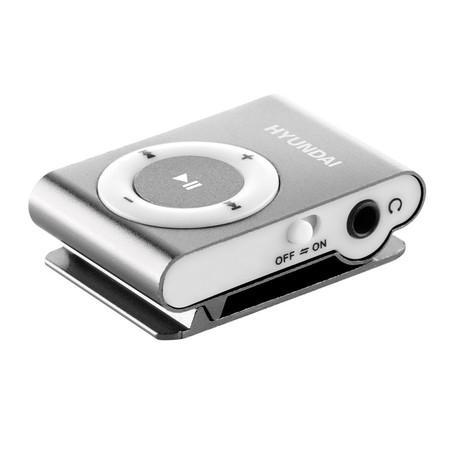 MP3 přehrávač Hyundai MP 213 S, micro SD, stříbrná barva