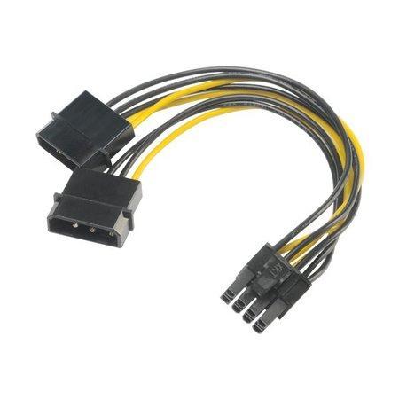 AKASA - 4-pin Molex na 6+2-pin PCIe adaptér