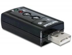 Delock Externí USB 2.0 zvukový adaptér 24 bit / 96 kHz se S/PDIF