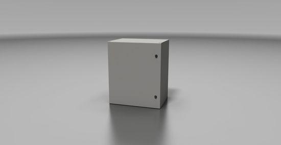 Rack Typ 3-12U/400 plechové dveře, příprava k instalaci (lisované matice z výroby), šedý, IP66,