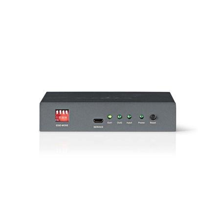 Nedis VSPL3402AT - HDMI™ Rozbočovač | 2 porty - 1x HDMI™ vstup | 2x HDMI™ výstup, VSPL3402AT