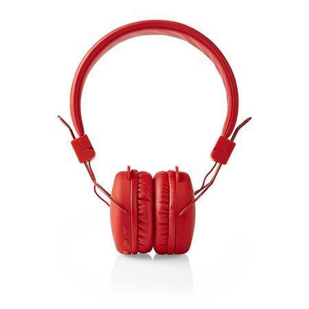 Nedis HPBT1100RD - Bezdrátová Sluchátka | Bluetooth® | On-ear | Skládací | Červená barva