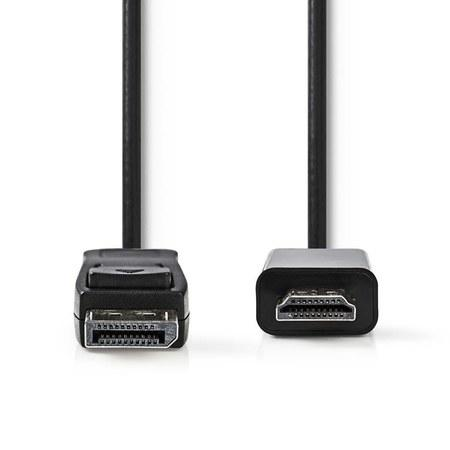 Nedis CCGP37100BK20 - DisplayPort – HDMI™ Kabel | DisplayPort Zástrčka - Konektor HDMI™ | 2 m | Černá barva