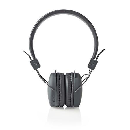 Nedis HPBT1100GY - Bezdrátová Sluchátka | Bluetooth® | On-ear | Skládací | Šedá barva