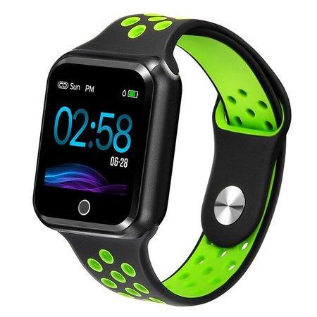 """IMMAX chytré hodinky SW10/ 1.3"""" TFT LCD/ NRF52832/ BT/ IP67/ komp. s Android 2.3 / iOS 4.0 a vyšší/ černo-zelené"""
