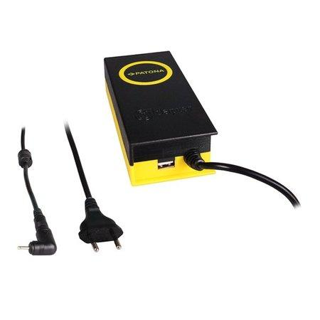 PATONA napájecí adaptér k ntb/ 19V/4,7A 90W/ konektor 2,5x0,7mm/ + výstup USB, PT2615