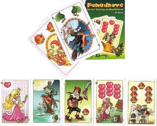 Pohádkové hrací karty - Jednohlavé mariášové karty