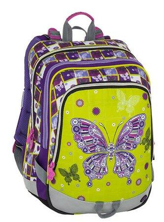 BAGMASTER Školní batoh ALFA motýl