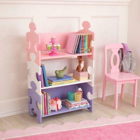 KIDKRAFT Puzzle knihovna - pastelová