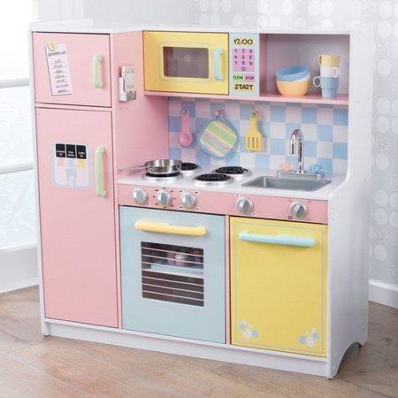 KIDKRAFT Velká dřevěná kuchyňka Pastel