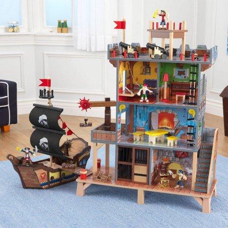 KIDKRAFT Dřevěný hrací set Piráti s vybavením