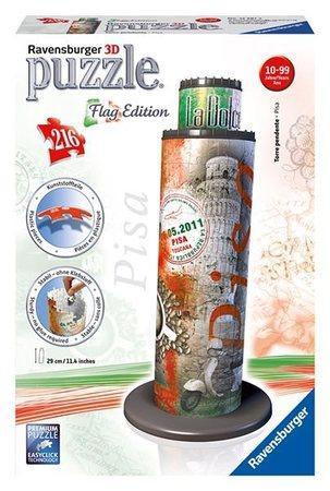 RAVENSBURGER 3D puzzle Šikmá věž v Pise (vlajková edice) 216 dílků