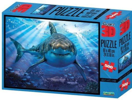 PRIME 3D Puzzle Žralok 3D 500 dílků