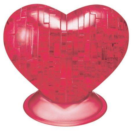 HCM KINZEL 3D Crystal puzzle Srdce červené 46 dílků