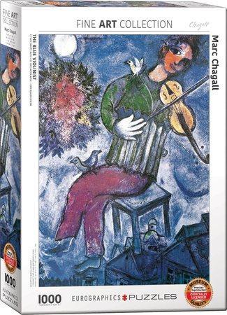 EUROGRAPHICS Puzzle Modrý houslista 1000 dílků