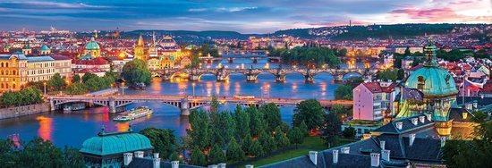 EUROGRAPHICS Panoramatické puzzle Praha, Česká republika 1000 dílků