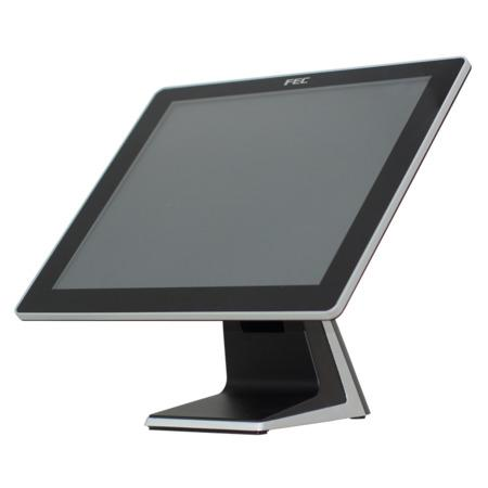 "Dotykový monitor FEC AM-1017, 17"" LED LCD, AccuTouch (Single Touch), USB, VGA/DVI, bez rámečku, černo-stříbrný, AM-1017-FR5-350LED"